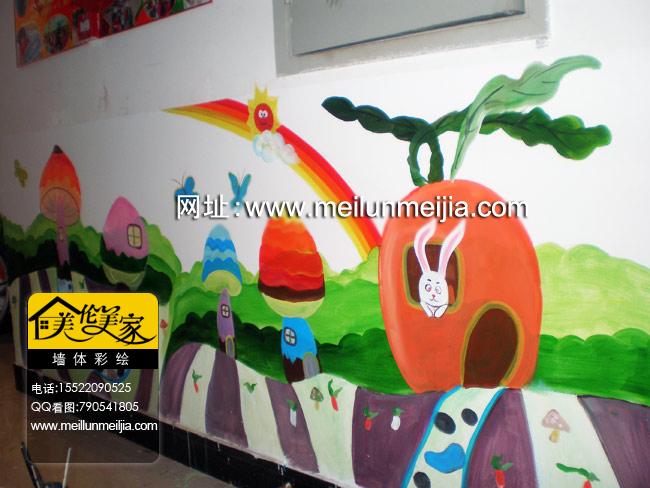 天津幼儿园墙面彩绘 天津隐形画 天津手绘墙 天津墙体手绘画 欧式手绘墙
