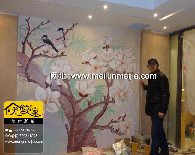 瓷砖上绘制彩绘图案天津酒店大堂壁画、大堂天顶、会议厅、办公室、主题餐厅壁画、特色包房壁画、网吧