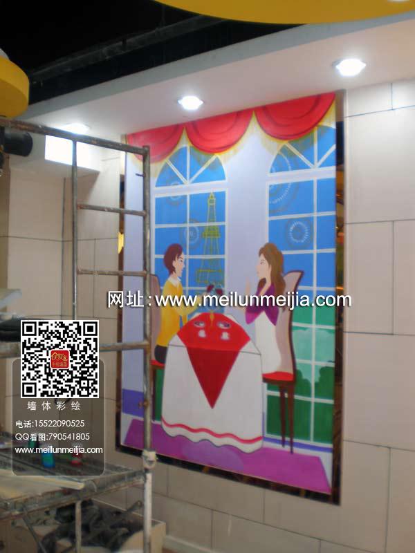 天津墙画墙体彩绘手绘墙主题公园 温泉 海洋馆 动植物