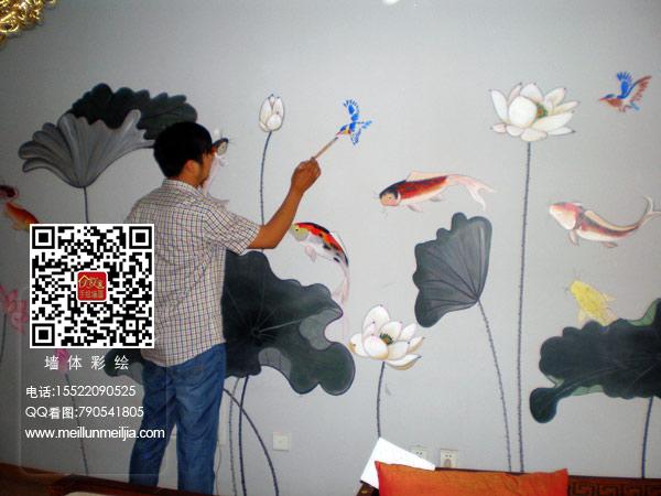 客厅天津墙绘天津墙体彩绘天津手绘墙画墙绘素材墙画