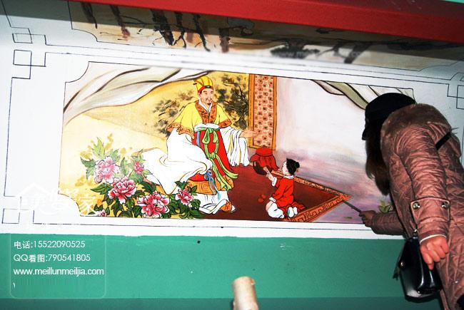 手绘墙画中国国古代天津墙绘天津墙体彩绘天津手绘墙画墙绘素材墙画
