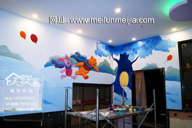 天津饭店墙体彩绘火锅店墙绘海底捞儿童区手绘墙画卡通壁画酒店装饰墙