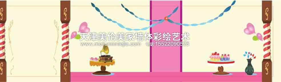 天津手绘墙天津墙绘天津墙体彩绘漫画家居矢量天津手绘墙天津墙绘天津
