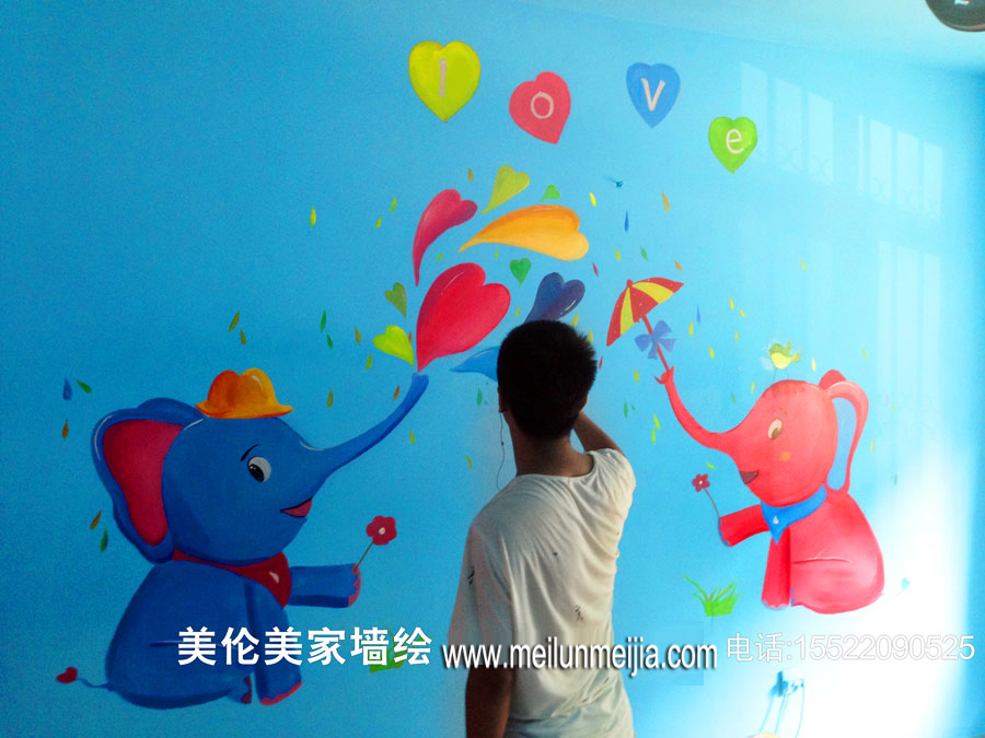 大堂墙面彩绘,商业墙画,店面手绘墙,天顶画彩绘,停车场墙画,走廊墙上