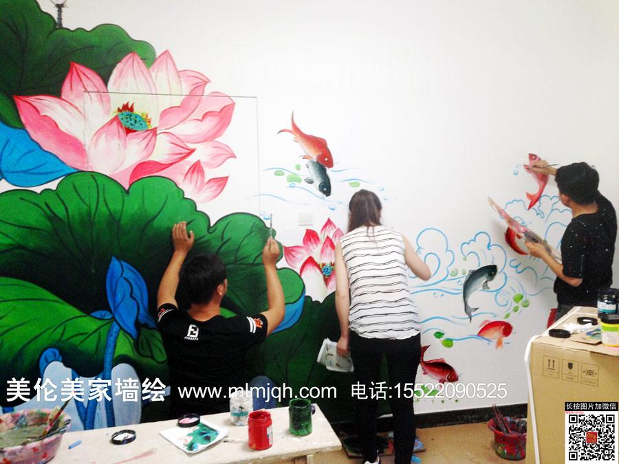 船手绘墙画/天津墙体彩绘/天津手绘墙/天津手绘墙画/艺术创意彩绘