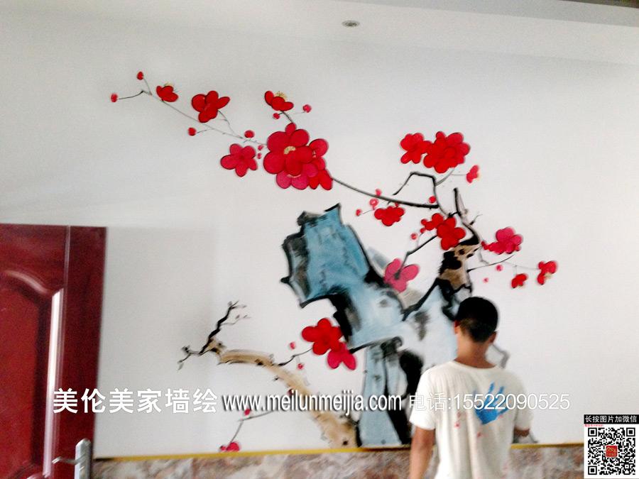 天津蜀香居食府墙绘餐饮接待厅手绘墙画