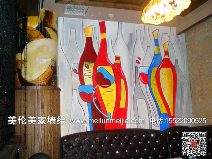 墙绘,咖啡厅装饰画,茶馆墙画,酒吧墙体朋绘,幼儿园主题画,学校文化墙
