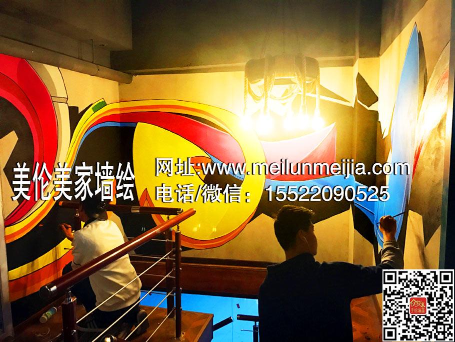 天津网吧网咖手绘3D立体墙绘壁画 3D地贴 英雄联盟墙体彩绘,墙绘/立体画,天津手绘壁画涂鸦