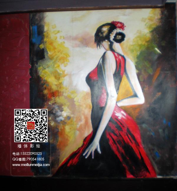 天津墙体彩绘河东婚纱摄影墙绘美容美体手绘墙画美发