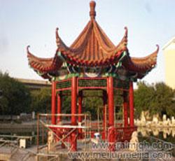 天津塘沽古代建筑彩绘公司小桥小庭彩绘墙绘粉刷翻新->