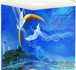 凤凰传奇墙绘卧室墙体彩绘电视背景墙手绘墙画影视墙墙画室内壁画墙面装饰素材月亮梦幻->