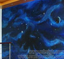 天津星空手绘墙宇宙墙绘墙体彩绘宗教->