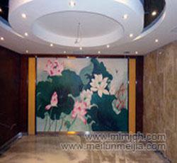 天津塘沽酒店酒吧墙面大堂壁画手绘墙公司墙体彩绘->