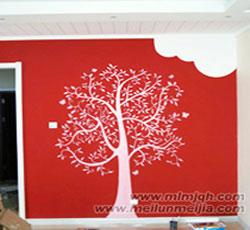 办公室彩绘树->