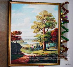 天津风景壁画,定制油画,墙体彩绘,会所墙绘,餐厅配画->