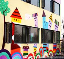 天津塘沽爱蜗幼儿园外墙彩绘公司,主题墙画,墙体喷绘同时也做天津幼儿园墙体彩绘,幼儿园墙绘,校园文化墙->