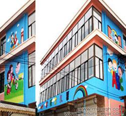 天津静海县启航幼儿园墙绘公司幼儿园墙体彩绘价格报价->