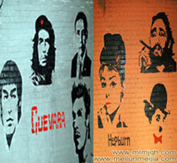 天津静海农家墙绘伟大人物头像墙体彩绘KTV手绘墙娱乐会所手绘墙体东北二人转墙面喷绘涂鸦搞笑墙画创意好->