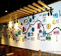 天津火锅城墙体彩绘价位店铺彩绘墙体壁画塘沽城区小火车养生火锅墙绘餐厅酒吧墙绘3D效果装饰画创意时尚->