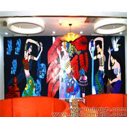 天津墙体彩绘河东区墙绘阿瓦山寨手绘墙画报价店铺壁画商铺店面装修主题墙绘餐厅宾馆饭店墙上彩绘价格,墙壁->