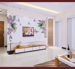 天津南开电视背景墙墙绘手绘最流行店铺客厅墙绘价格影视墙效果图天津