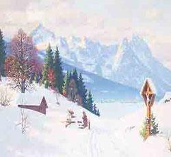 博物馆欧式古典风景油画天津墙体彩绘墙绘写实风景