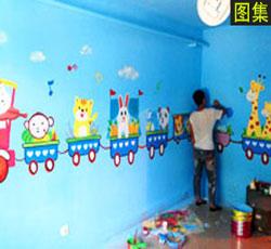 天津西青启蒙幼教墙体彩绘幼儿园学校主题墙绘早教中心墙画/益智类彩绘墙/天津墙体彩绘,手绘墙,墙面彩绘->