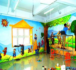 天津和平区儿童乐园墙体彩绘,幼儿园手绘墙,幼儿园楼梯墙绘,早教中心墙绘,卡通画,幼儿机构彩绘墙面商场->
