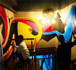 天津网吧网咖手绘3D立体墙绘壁画 天津网吧墙绘价格,网吧墙体彩绘报价 英雄联盟墙体彩绘尽在墙绘公司->