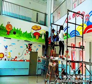 天津红桥区西营门幼儿园墙体彩绘公司,天津幼儿园墙绘,幼儿园手绘墙画报价,学校文化墙彩绘,教室室内墙画->