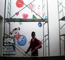天津墙体彩绘-天津手绘墙-天津墙画-墙体彩绘